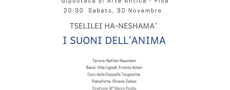 30/11/2019 – Tselilei Ha-Neshamà – Festival Nessiah – Pisa